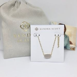 NWT Kendra Scott Gold Iridescent Drusy Necklace